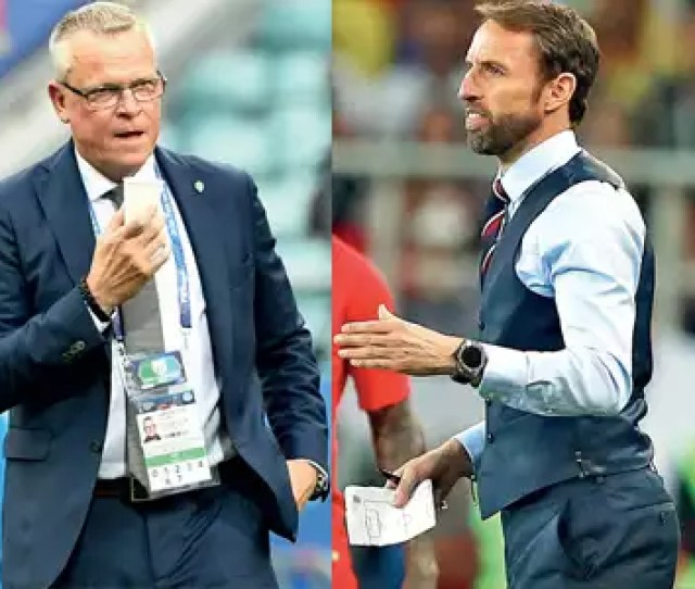 Fifa World Cup 2018 England Coach Gareth Southgate And Sweden Coach Janne Andersson Plot A Path