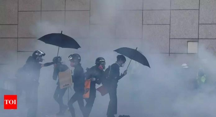Hong Kong protests see renewed clashes at university – Times of India