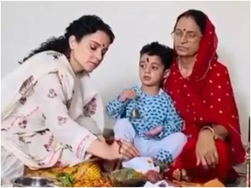 Kangana Ranaut's mother organises a pooja at home for her daughter's safety; watch video | Hindi Movie News - Times of India