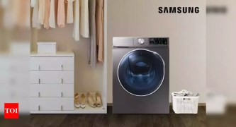 Samsung launches AI powered front load washing machines in India - Times of India