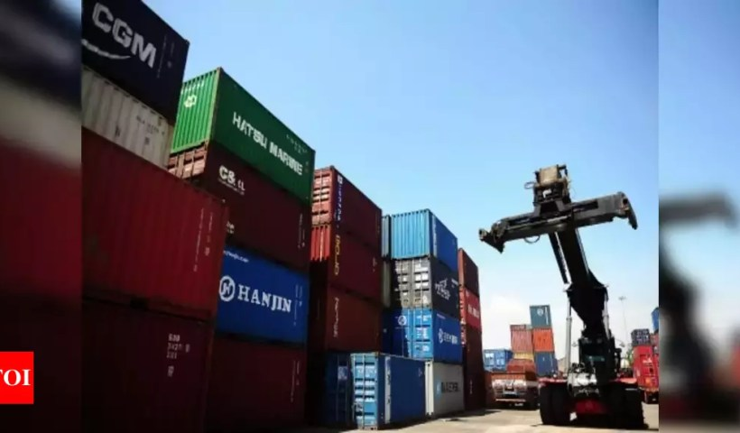 India's exports dip 5.4% in October to .82 billion: Government data – Times of India