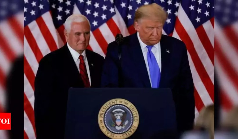 Pence rejects invoking 25th Amendment to oust Trump – Times of India
