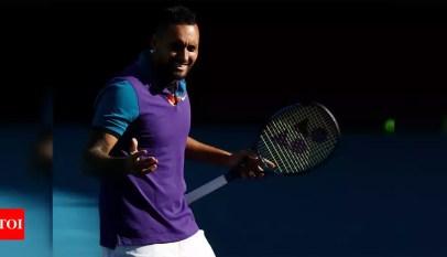 Watch: Nick Kyrgios mocks Novak Djokovic with grand entrance | Tennis News – Times of India