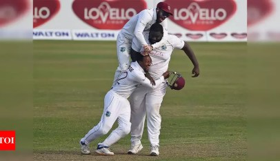 2nd Test: West Indies edge thriller to sweep series against Bangladesh | Cricket News – Times of India