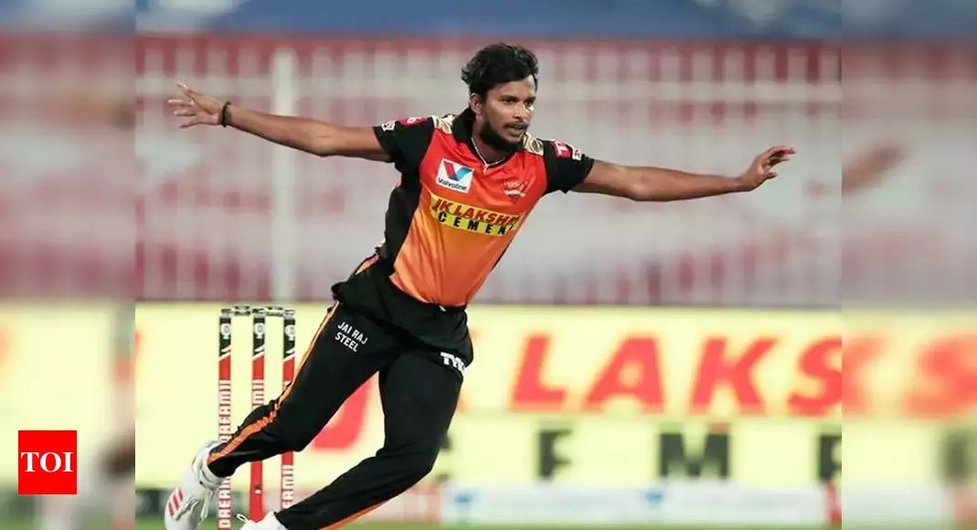 Pacer T Natarajan to undergo knee surgery   Cricket News – Times of India