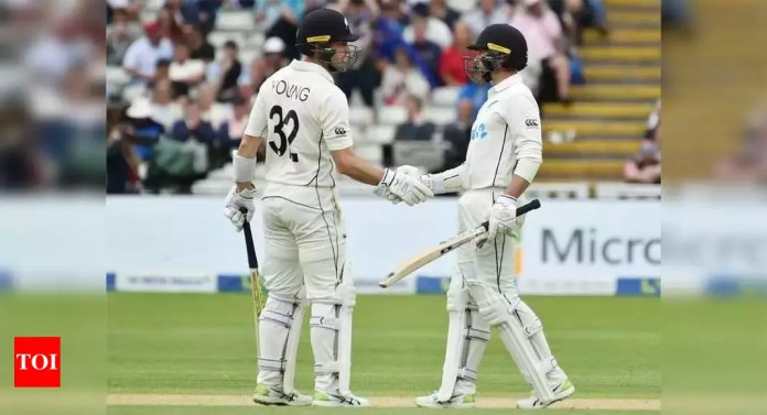 2nd Test: Conway and Young put NZ in charge against England at Edgbaston   Cricket News – Times of India -India News Cart