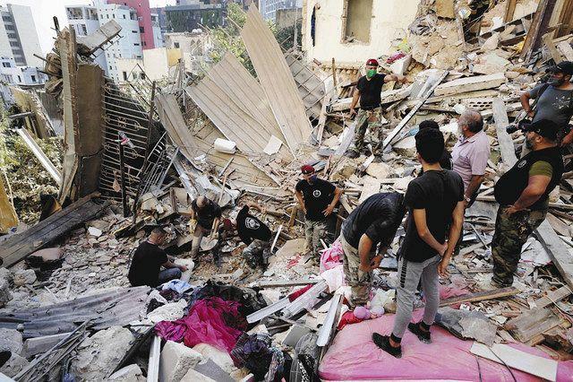 レバノン爆発、死傷者4000人超 化学物質のずさんな管理が原因か:東京 ...