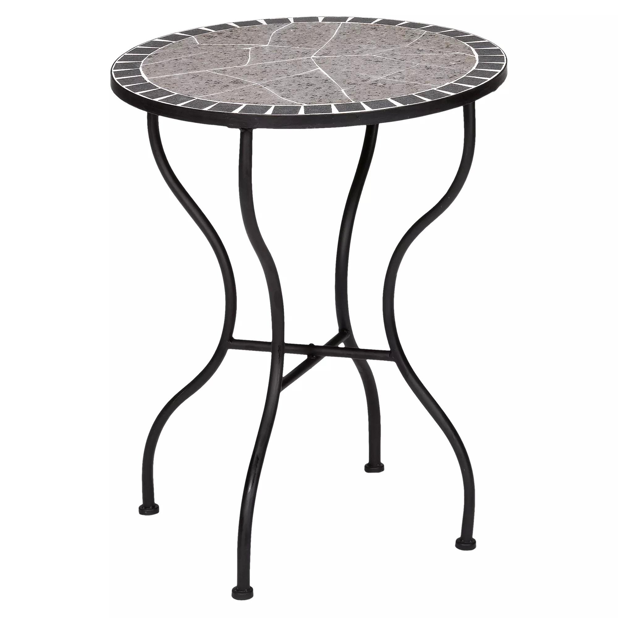 Gartentisch Rund Mosaik Kmh Gartentisch 120 Cm Rund Tisch Gartenmobel