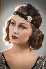 20s ladyships feather headband