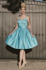 Vintage 1950s Blue Swing Dress