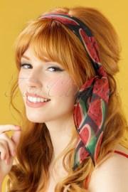 50s fruity watermelon hair scarf
