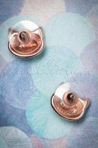 50s Puurfect Kitten Stud Earrings in Gold