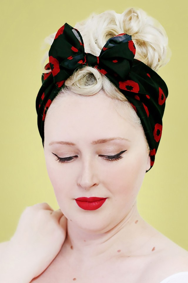 50s hair bandanna, headband, scarf, flowers | 1950s wigs