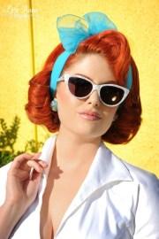 1950s vintage style sheer hair