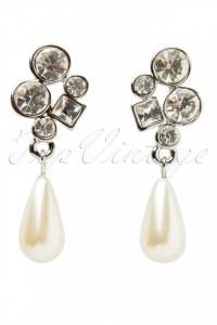 Pearl & Crystal Teardrop Earrings