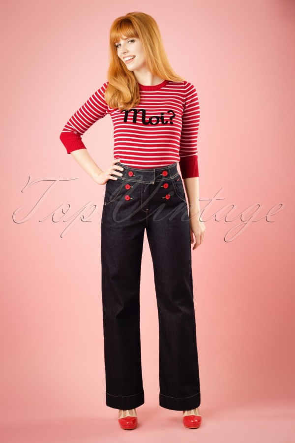 1960 - 1970s Pants Jeans Flares Bell Bottoms