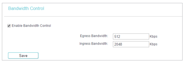 How to configure Bandwidth Control on TL-WR802N (standard