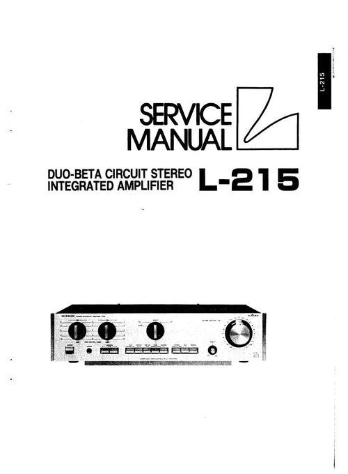 Luxman L-215 Amplifier , Original Service Manual