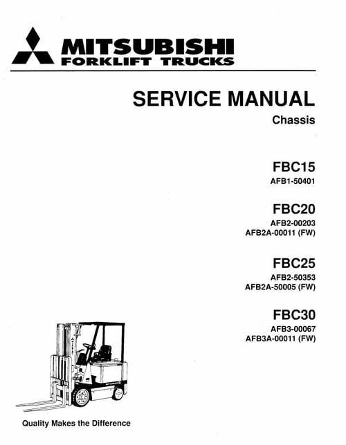 Mitsubishi Forklift Trucks FBC15, FBC20, FBC25, FBC30