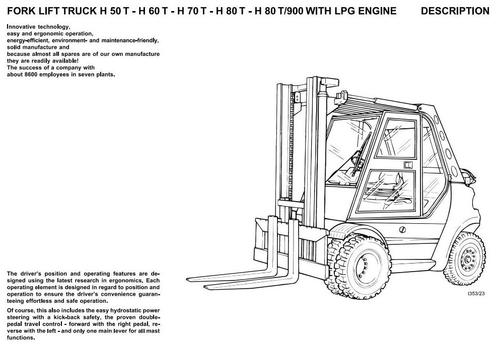 Linde LPG Forklift Truck 353 Series: H50, H60, H70, H80