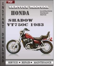 Honda Shadow VT750C 1983 Service Repair Manual Download