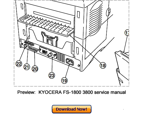 KYOCERA FS-1800 FS-3800 Service Repair Manual Download