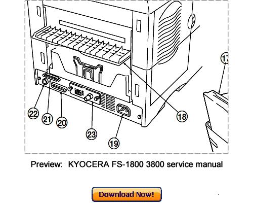 KYOCERA FS-1800 FS-3800 Service Repair Manual Download
