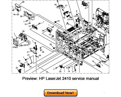 HP LaserJet 2410 2420 2430 Service Repair Manual Download