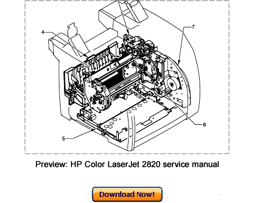 HP Color LaserJet 2820 2830 2840 Service Repair Manual