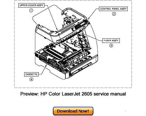 HP Color LaserJet 2605 2605dn 2605dtn Service Repair