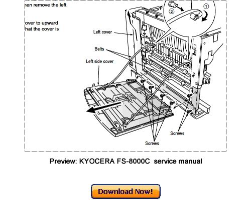 KYOCERA MITA FS-8000C, FS-8000CD, FS-8000CN Service Repair