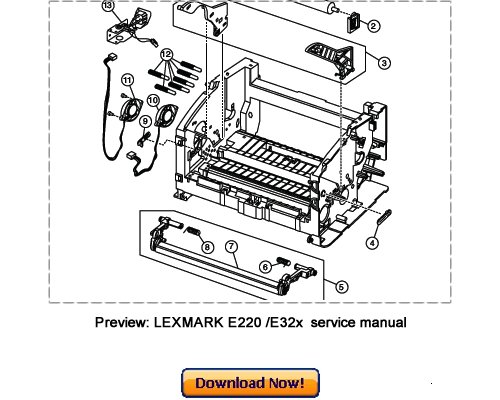 LEXMARK E220 E320 E321 E322 E323 Service Repair Manual