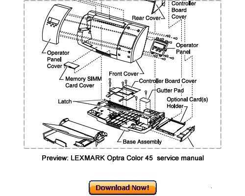 LEXMARK Optra Color 45 Service Repair Manual Download