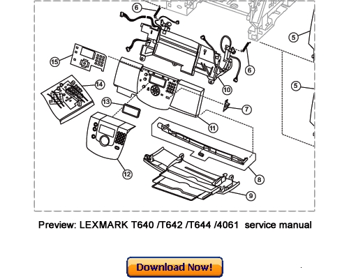 LEXMARK T640 T642 T644 Service Repair Manual Download