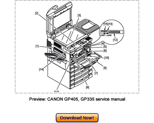 Canon GP405, GP400, GP335, GP330 Service Repair Manual