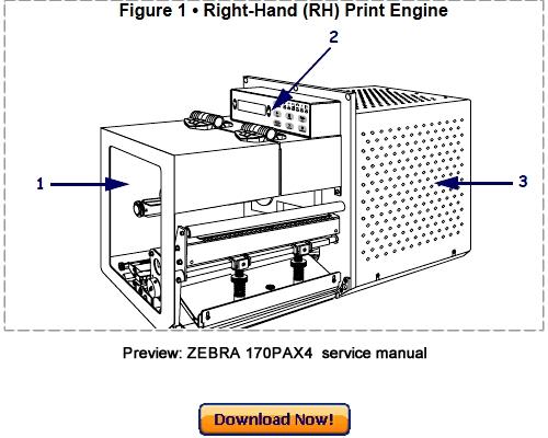 ZEBRA 170PAX4 Thermal Label Printer Service Maintenance