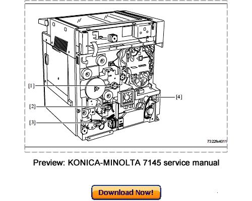 KONICA MINOLTA 7145, 7222, 7228, 7235 Service Repair