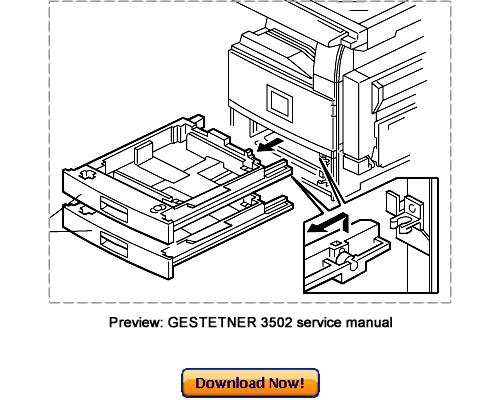 GESTETNER 3502 4502 3502P 4502P Service Repair Manual