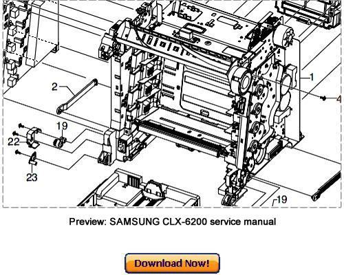 SAMSUNG CLX-6200ND 6200FX 6210FX 6240FX Service Repair