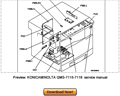 KONICA MINOLTA QMS-7115, QMS-7118 Service Repair Manual