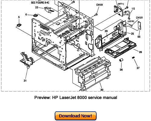 HP LaserJet 8000 with Mopier 240 Service Repair Manual