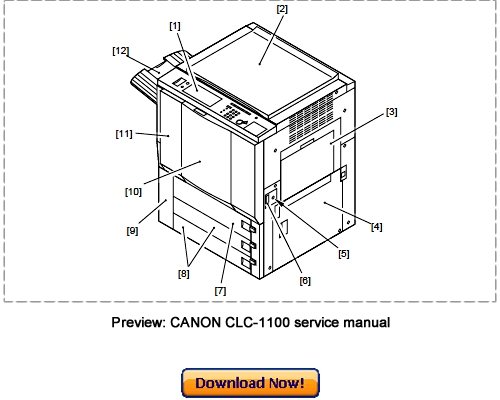 Canon CLC-1150 CLC-1160 CLC-1180 Service Repair Manual
