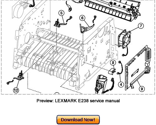 LEXMARK E238 E240 E240n E340 E342n Service Repair Manual