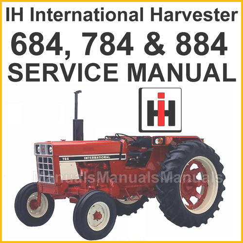 1066 International Wiring Diagram Ih International 684 784 Amp 884 Tractors Shop Service