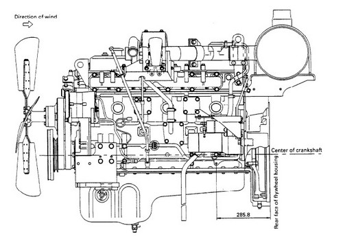 KOMATSU 108-2 SERIES DIESEL ENGINE SERVICE REPAIR MANUAL