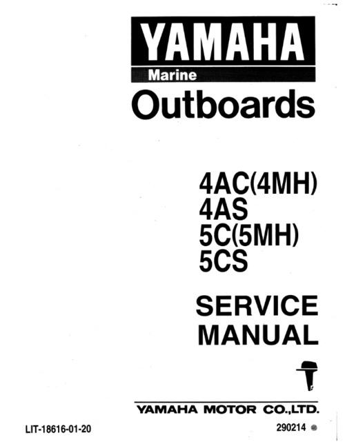 Yamaha outboard 4ac 4mh 4as 5c 5mh 5cs service manual full