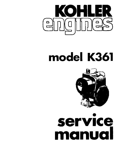KOHLER K361 k 361 Service Repair Manual Kohler Engines