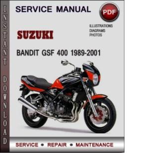 Suzuki Bandit GSF 400 19892001 Factory Service Repair Manual Downl