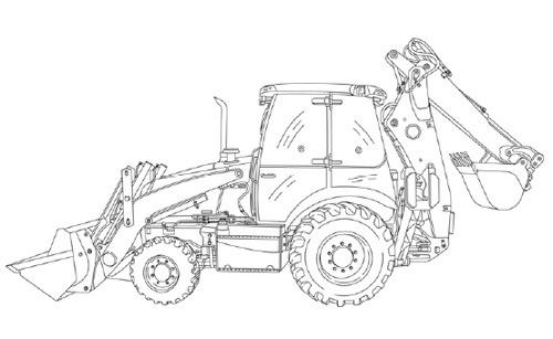 Case 580N 580SN-WT 580SN 590SN Tractor Loader Backhoe