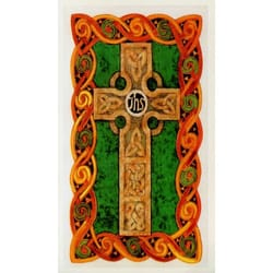 Celtic Cross Personalized Prayer Card Priced Per Card